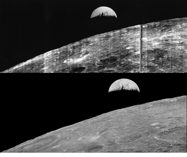 Figure 7: Earthrise 1966 and Earthrise 2008!