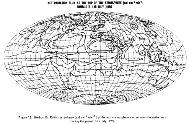 Earth Radiation Budget Derived from Nimbus II MRIR Instrument 1966